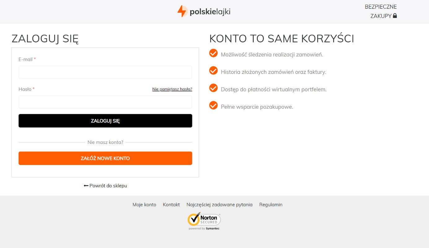 tworzenie konta na polskielajki