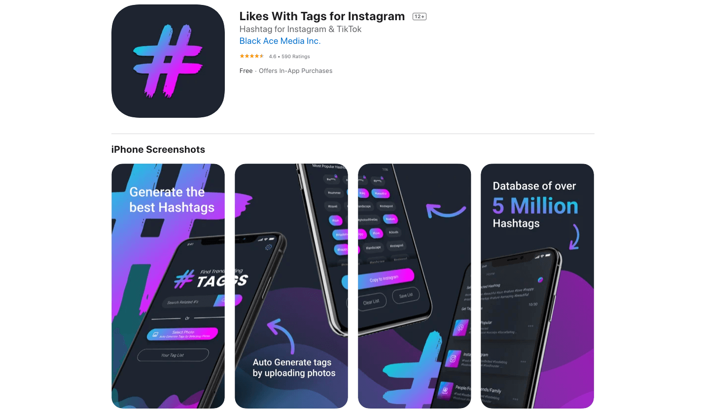 Likes With Tags for Instagram