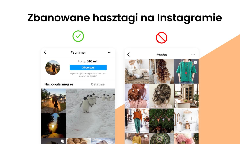 Zbanowane hasztagi na Instagramie